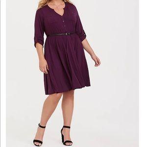 Torrid Purple Jersey Dress